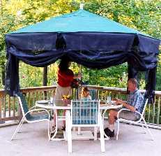 LXDirect 3-metre wooden parasol with crank handle Garden Furniture